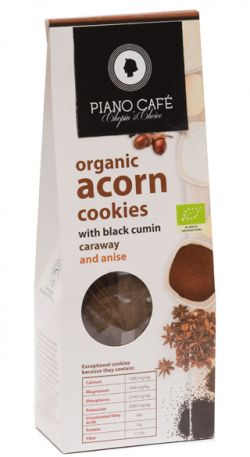 ORGANIC  ACORN COOKIES WITH BLACK CUMIN, CARAWAY AND ANISE